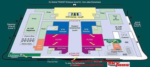 Карта на KL Sentral