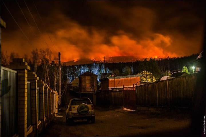 Wildfires in Trans-Baikal region