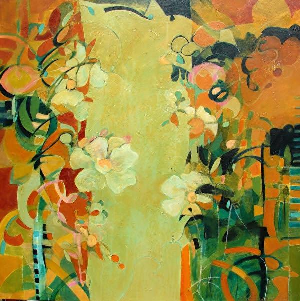 "Jardim dos Segredos by Filomena Booth Acrylic ~ 40"" x 40"""