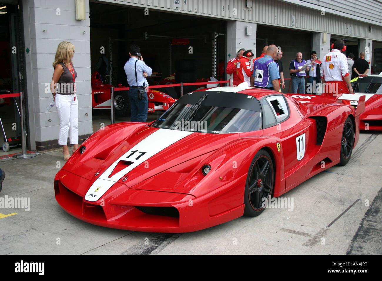 ferrari ferrari FXX silverstone italian italy sportscar super car Stock Photo, Royalty Free
