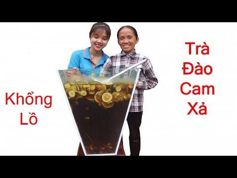 Bà Tân Vlog - Làm Cốc Trà Đào Cam Xả Siêu To Khổng Lồ Sẽ NTN