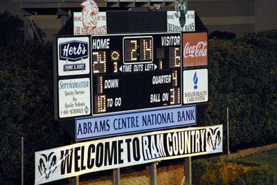 Wildcat-Ram Stadium Scoreboard