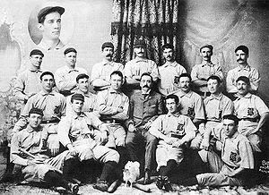 1896 Baltimore Orioles official team photo, in...