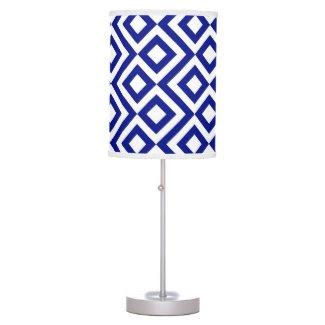 Blue and White Meander Lamps