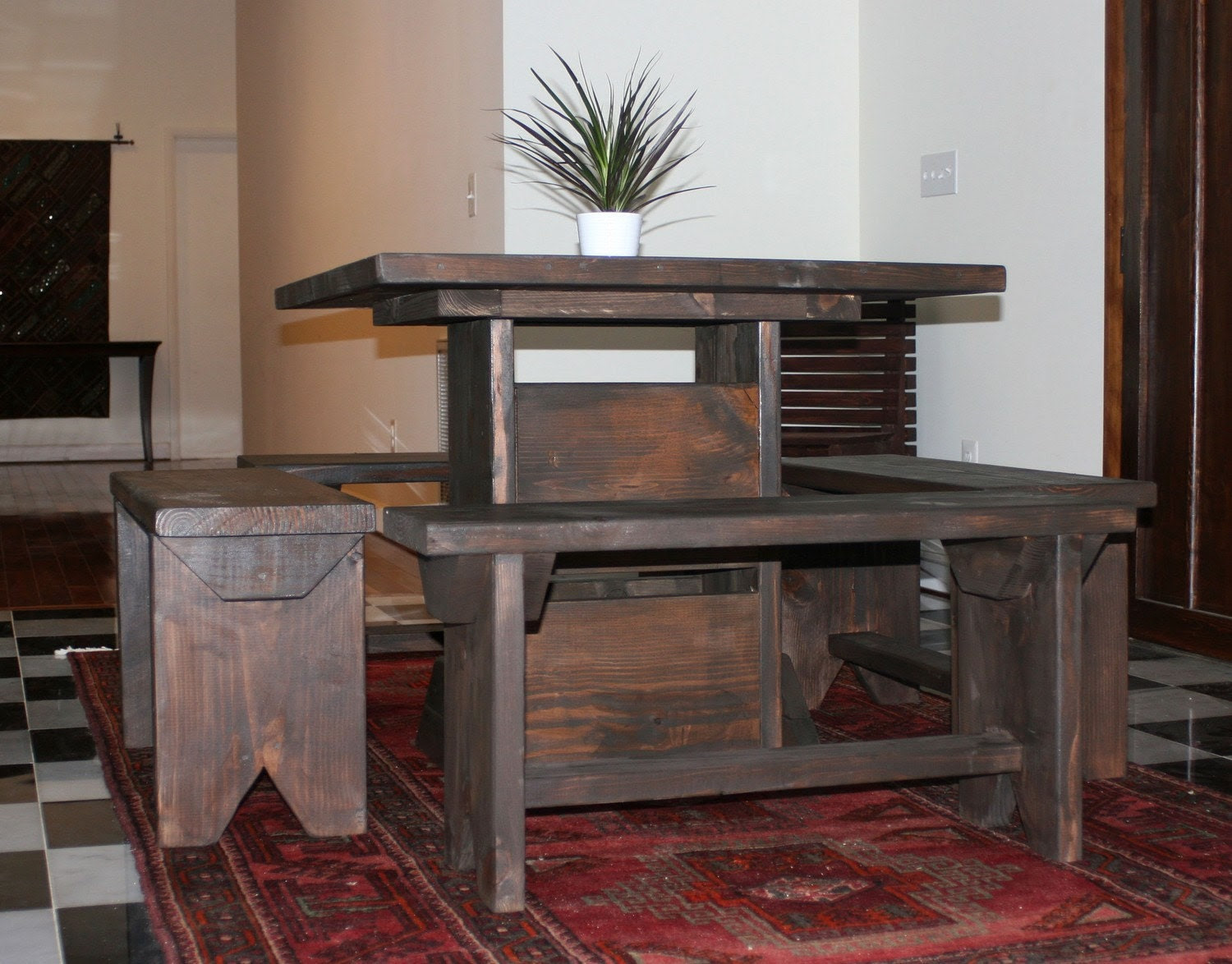 3 foot small dining room set for 4 / dinette set for by ModernRust