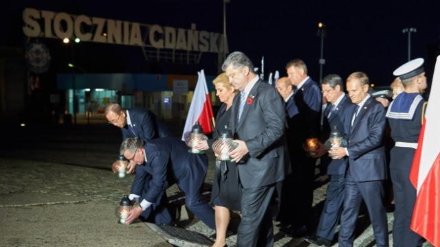 Rocznica zakończenia II wojny światowej. Prezydenci spotkali się na Westerplatte