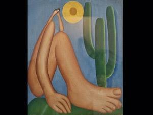 'Abaporu' (1928), de Tarsila do Amaral; óleo sobre tela; coleção Malba - Fundación Costantini, Buenos Aires (Foto: Sérgio Amaral /G1)