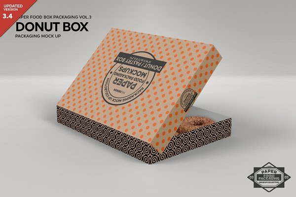 Download Donut Box Packaging Mockup PSD Template - Download Free ...