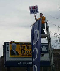The Dodd campaign tried the direct approach. Jefferson-Jackson day, Des Moines, 11/10/07.