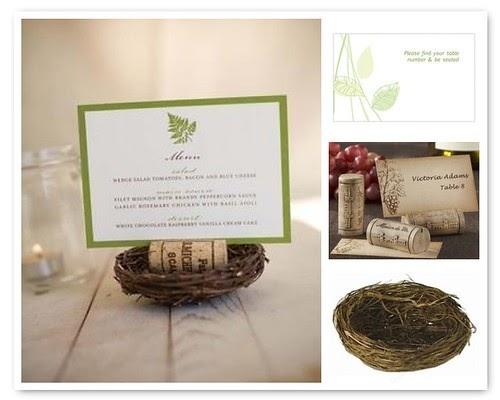 Diy wedding idea unique menu and table sign cards Wine cork birdhouse instructions