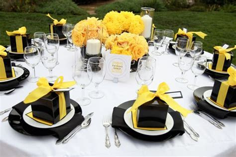 Yellow and Black Modern Elegance Wedding in Santa Barbara