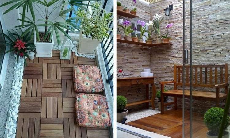 Como decorar a área externa com jardim de inverno
