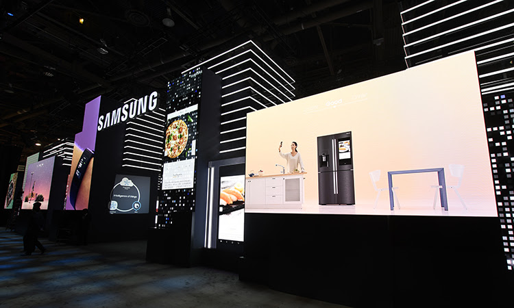 Watch Samsung City Trade Show Booth Setup At Ces 2018