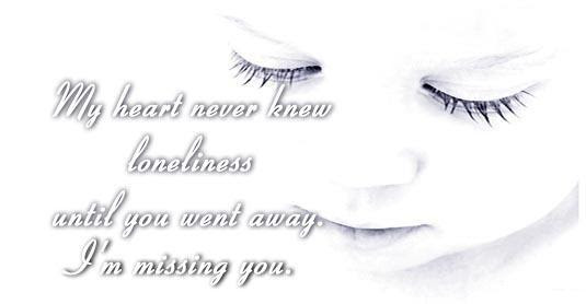 Miss You My Love Free Missing Him Ecards Greeting Cards 123