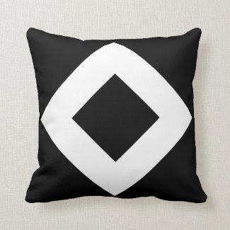 Black and White Diamond Pattern Pillows