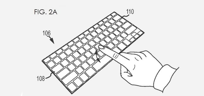 Smart Cover da Apple pode ter teclado touchscreen (Foto: Reprodução/US Patent & Trademark Office)