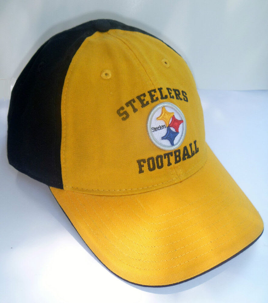 Pittsburgh Steelers Hat Reebok Black n Gold 3D Logo Slouch NFL Cap eBay