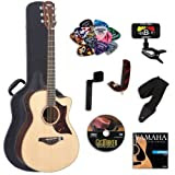 Yamaha AC3RHC Acoustic-Electric Guitar with Yamaha Hard Case and Legacy Kit (Tuner, Picks, DVD and More)