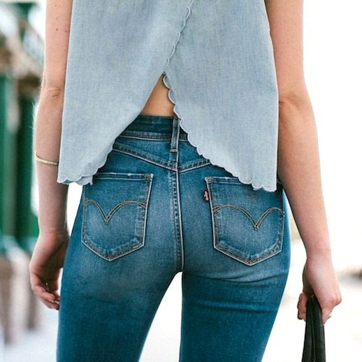 5 Le Fashion Blog Shots That Prove Levis Make Your Butt Look Amazing Good Scallop Top Jeans Denim Refinery29