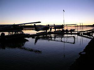 Floatplanes on Naknek Rivers in King Salmon, A...