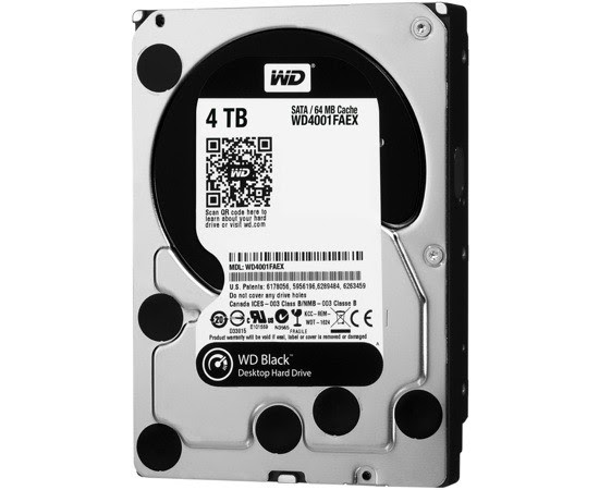 Western Digital ships 4TB WD Black hard drive, melds speed with space for $339