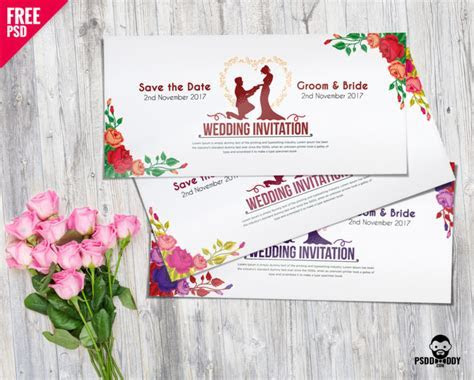 [Download] Wedding Invitation Card PSD Mockup   PsdDaddy.com