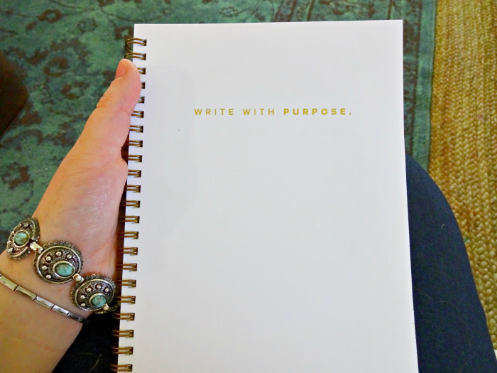 write with purpose A Designer At Home blogger's planner and focus