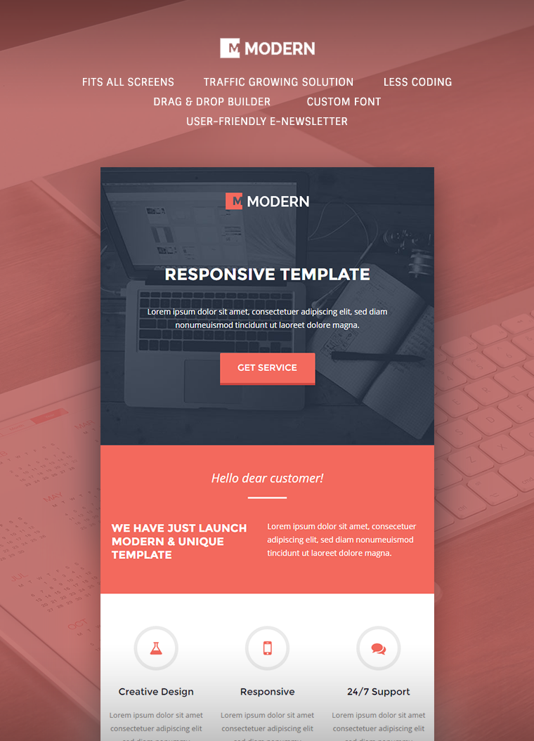 MODERN Responsive Email Template 1
