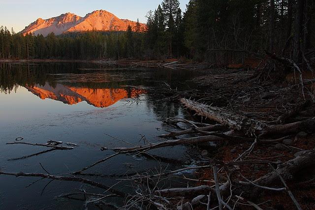 IMG_3081 Reflection Lake at Sunset, Lassen Volcanic National Park