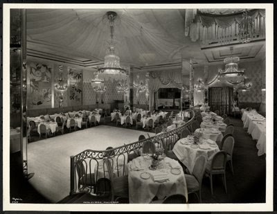 Fine Art Print of The Iridium Room at the Hotel St. Regis, 1937 by Byron Company