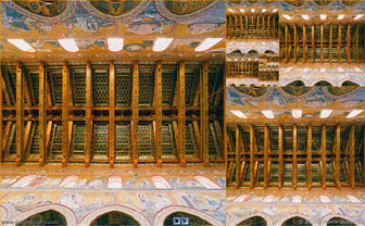 Nave, Monreale Cathedral, Sicily and Golden Rectangles.