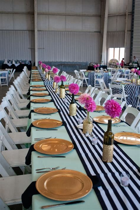 Black and White Striped Wedding, Mint and Gold Wedding