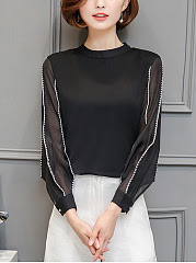 Plus size Round Neck Bowknot Exposed Navel Plain T-Shirts80Luvyle IncLV big girls