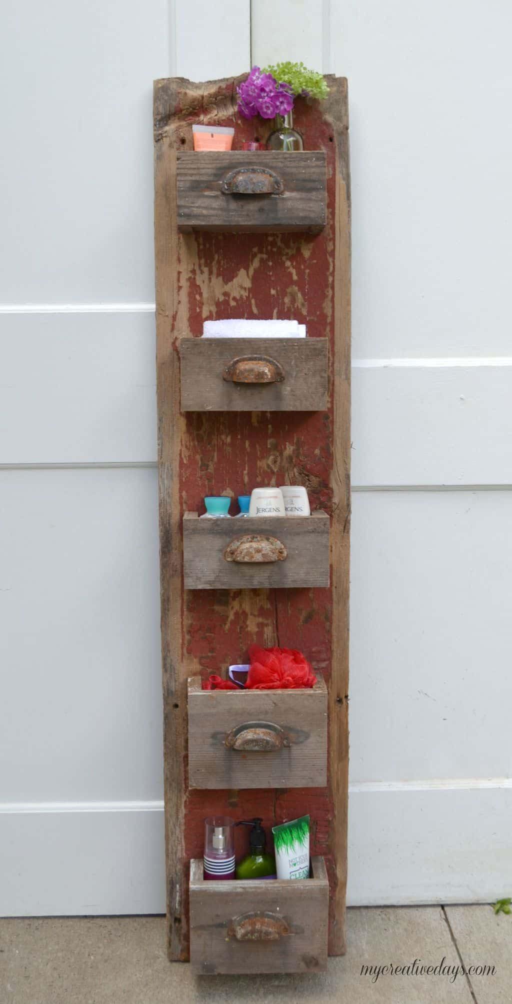 DIY Barn Wood Wall Bin - My Creative Days
