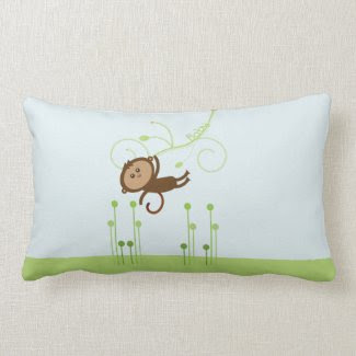 Monkey Baby Pillow