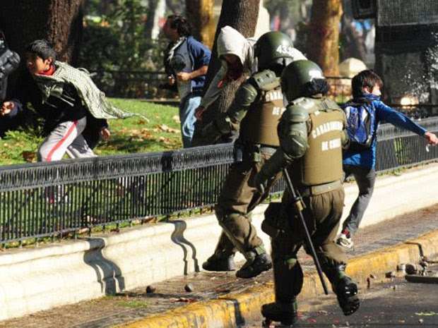 Chile protesto 6 (Foto: Claudio Santana / AFP Photo)