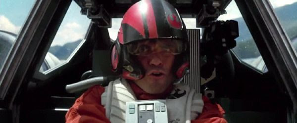 X-Wing pilot Poe Dameron (Oscar Isaac) savors the thrill of flight in STAR WARS: THE FORCE AWAKENS.