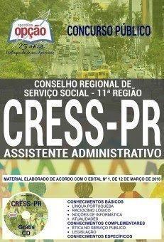Apostila Concurso CRESS PR 2018   ASSISTENTE ADMINISTRATIVO