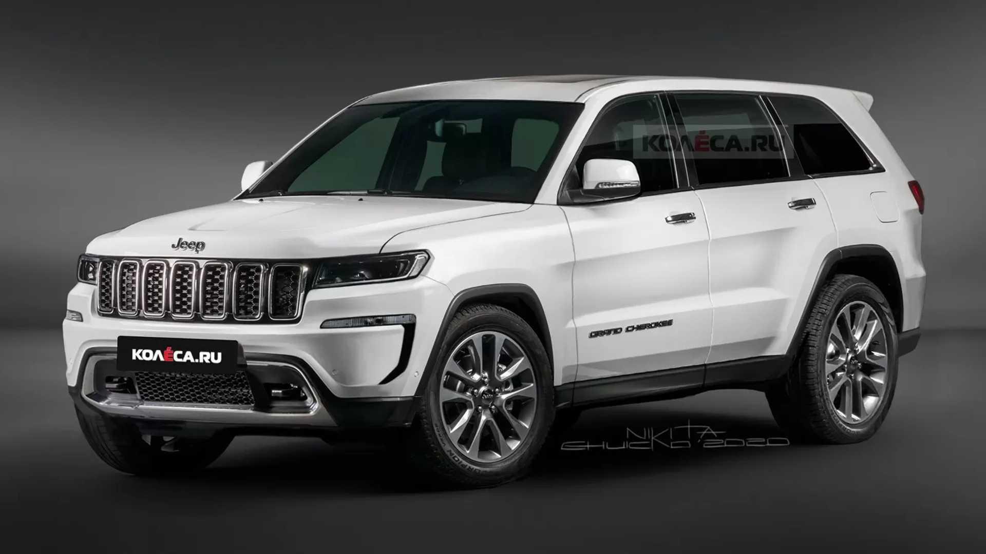 2021款jeep大切诺基全新渲染图曝光 前后灯组经过重新设计车型