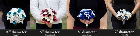 Bouquet sizes ? The Bridal Flower ? silk and real touch