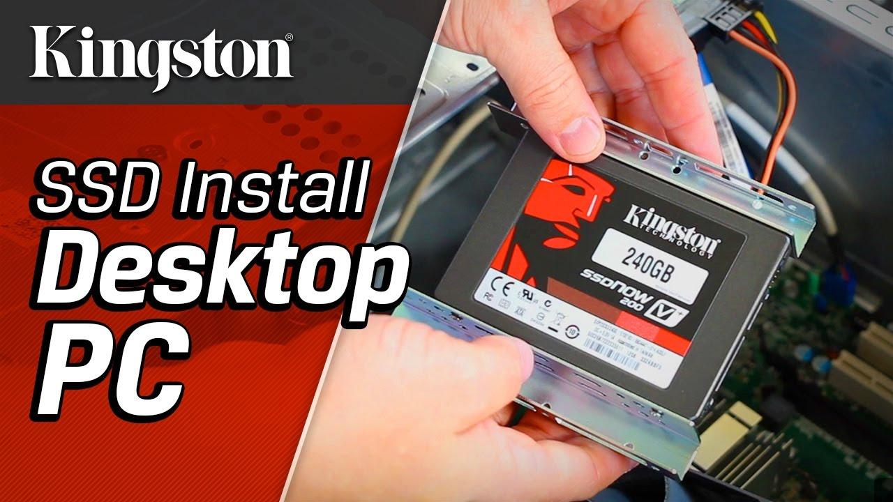 Installing a SSD in a Desktop PC - YouTube