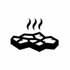 溶岩シルエット イラストの無料ダウンロードサイトシルエットac