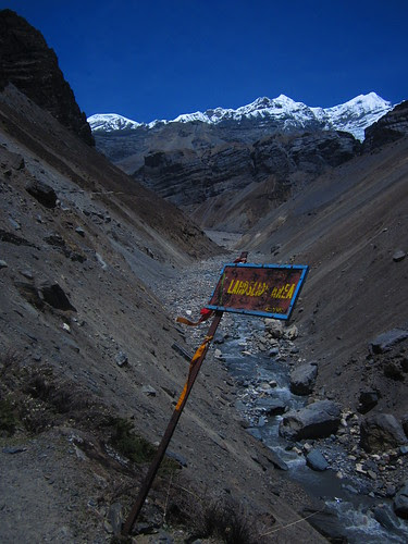 landslide area near Thorong Phedi