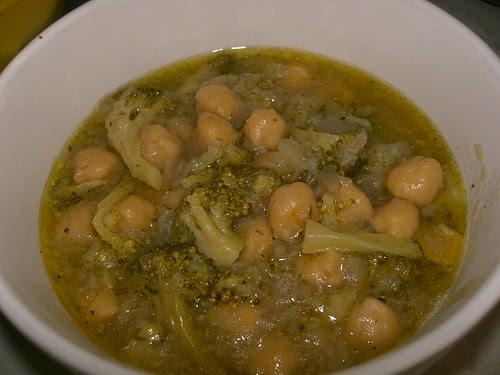 chickpea and broccoli stew revithada