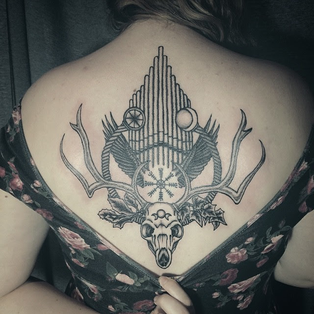 20 Cool Deer Skull Tattoos Youll Adore