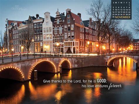 November 2014   Love Endures Desktop Calendar  Free