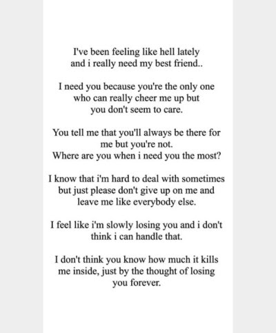 Losing My Best Friend Picture Quotes Babangrichieorg