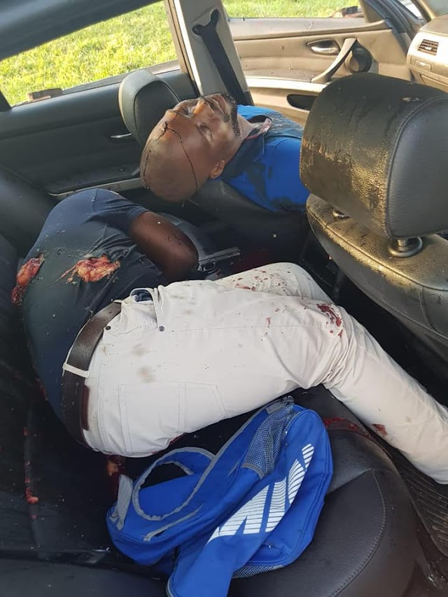 South African Armed Robbers Shot Dead After Opening Fire On Police (Graphic Photos)