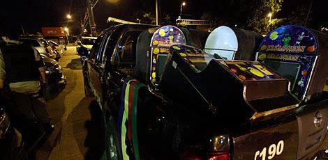 Material apreendido pela polícia foi encaminhado para a Central de Plantões da Capital, em Campo Grande / Foto: Bobby Fabisak/ JC Imagem