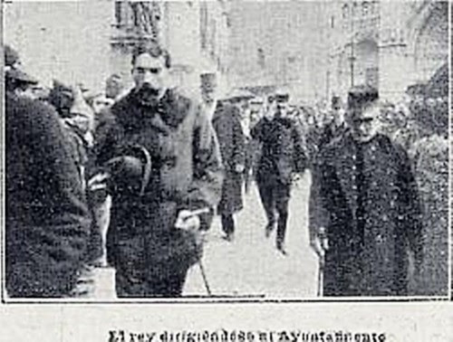 Visita de Alfonso XIII a Toledo el 2 de marzo de 1904